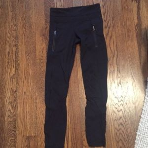Lululemon running tights with pockets